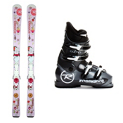 Rossignol Rossignol Fun Girl Zip 70 Girls Ski Package 2013, , medium