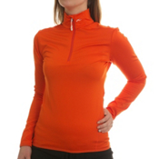 KJUS Element Half Zip Womens Mid Layer, Red Orange, medium