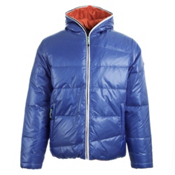 KJUS Spin Down Mens Jacket, Amparo Blue-Red Orange, medium
