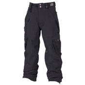 686 Smarty Original Cargo Kids Snowboard Pants, Gunmetal Linen Denim, medium