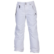 686 Mannual Brandy Girls Snowboard Pants, White, medium