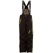 Spyder Team Kids Ski Pants, Black-Sharp Lime, medium