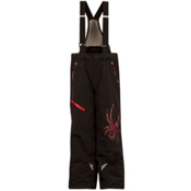 Spyder Avenger Kids Ski Pants, Black-Red, medium