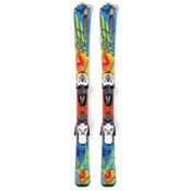 Nordica FireArrow Team Kids Skis with M4.5 Fastrak Bindings 2013, , medium