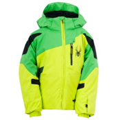 Spyder Mini Leader Toddler Ski Jacket, Sharp Lime-Classic Green-Black, medium