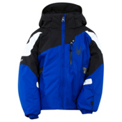Spyder Mini Leader Toddler Ski Jacket, Just Blue-Black-White, medium