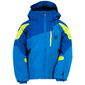 Spyder Mini Leader Toddler Ski Jacket, Collegiate-Just Blue-Sharp Lim, medium