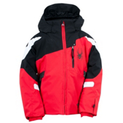 Spyder Mini Leader Toddler Ski Jacket, Red-Black-White, medium