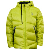 Spyder Upside Down Boys Ski Jacket, Sharp Lime-Black, medium