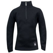 Spyder Valor Half-Zip Girls Sweater, Black, medium