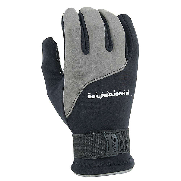 NRS Hydroskin Paddling Gloves, Black-Grey, 600