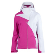 Spyder Power Womens Insulated Ski Jacket, Sassy Pink-White, medium