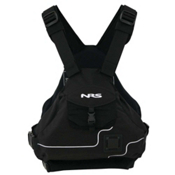 NRS Ninja PFD Adult Kayak Life Jacket 2016, Black, medium