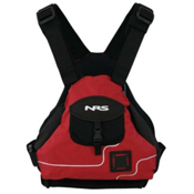 NRS Ninja PFD Adult Kayak Life Jacket 2015, Red, medium