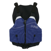 NRS Clearwater PFD Adult Kayak Life Jacket, Blue, medium