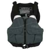 NRS Clearwater PFD Adult Kayak Life Jacket, Charcoal, medium