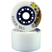 Rollerbones Day Of The Dead Roller Skate Wheels - DU80A_8 Pack 2014, White-Brown, medium