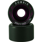 Sure Grip International Zombie Roller Skate Wheels - 8 Pack, Black-Purple, medium