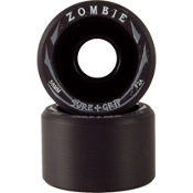 Sure Grip International Zombie Roller Skate Wheels - 8 Pack 2013, Black-Black, medium
