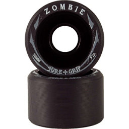 Sure Grip International Zombie Roller Skate Wheels - 8 Pack, Black-Black, 256
