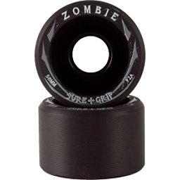 Sure Grip International Zombie Roller Skate Wheels - 8 Pack, Black-Black, 256