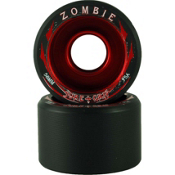 Sure Grip International Zombie Roller Skate Wheels - 8 Pack, Black-Red, medium