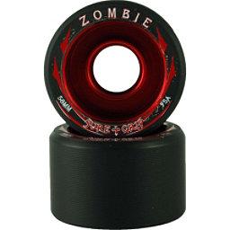Sure Grip International Zombie Roller Skate Wheels - 8 Pack, Black-Red, 256