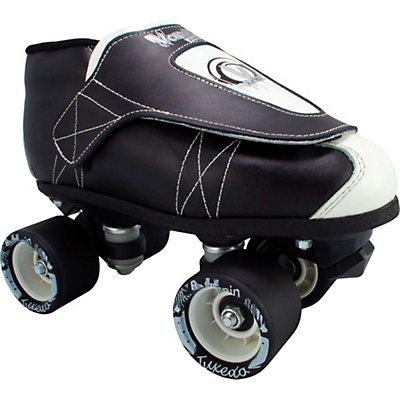Vanilla Tuxedo Junior Boys Derby Roller Skates, , large