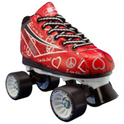 Pacer Heart Throb Girls Derby Roller Skates, Red, medium