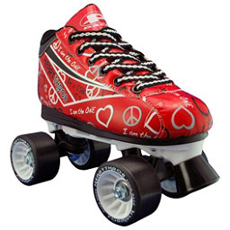 Pacer Heart Throb Girls Derby Roller Skates, Red, 256