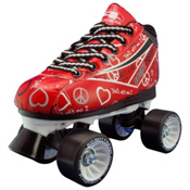 Pacer Heart Throb Womens Derby Roller Skates, Red, medium