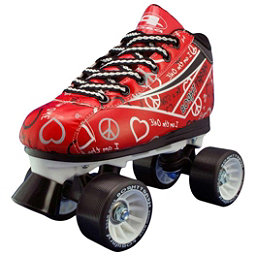 Pacer Heart Throb Womens Derby Roller Skates, Red, 256