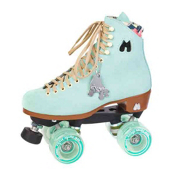 Riedell Moxi Lolly Floss Womens Outdoor Roller Skates 2013, Teal, medium