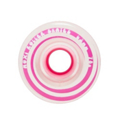 Riedell Moxi Gummy Wheels Roller Skate Wheels - 4 Pack, Pink, medium