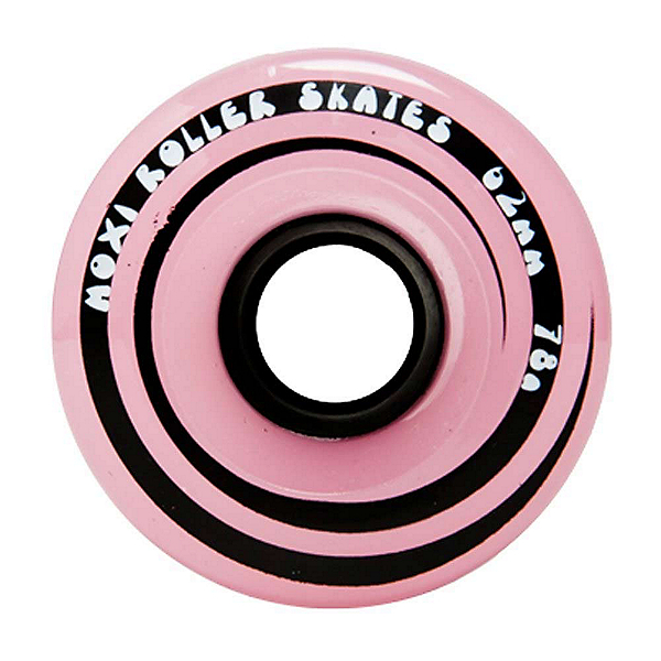 Riedell Moxi Juicy Roller Skate Wheels - 4 Pack, Pink Frost, 600
