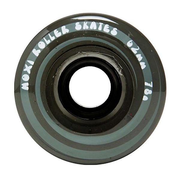 Riedell Moxi Juicy Roller Skate Wheels - 4 Pack, Smoke, 600