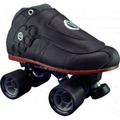 Vanilla Brass Knuckle Blackout Avenger Derby Roller Skates, , medium