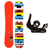 Ride Crush Snowboard and Binding Package, 155cm, medium