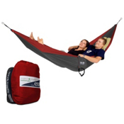 ENO Double Nest with Insect Shield Hammock 2015, Red-Charcoal, medium
