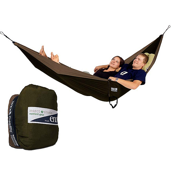 ENO Double Nest with Insect Shield Hammock 2017, Khaki-Olive, 600