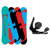Forum Holy Moly Snowboard and Binding Package, 155cm, medium