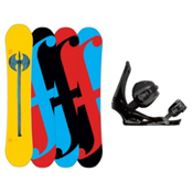 Forum Holy Moly Snowboard and Binding Package, 152cm, medium