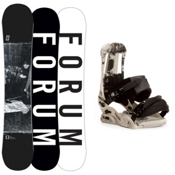 Forum Destroyer Doubledog Snowboard and Binding Package, 152cm, medium