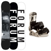 Forum Destroyer Doubledog Snowboard and Binding Package, 154cm, medium