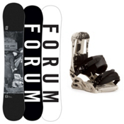 Forum Destroyer Doubledog Snowboard and Binding Package, 156cm, medium