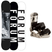 Forum Destroyer Doubledog Snowboard and Binding Package, 158cm, medium