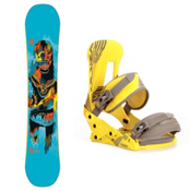 Forum Youngblood GrandPops Snowboard and Binding Package, 154cm, medium