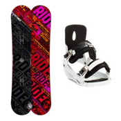 Ride Kink Snowboard and Binding Package 2013, 147cm, medium