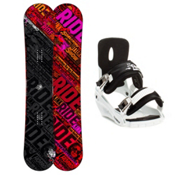 Ride Kink Snowboard and Binding Package 2013, 155cm, medium