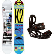 K2 Raygun Snowboard and Binding Package 2013, 159cm, medium